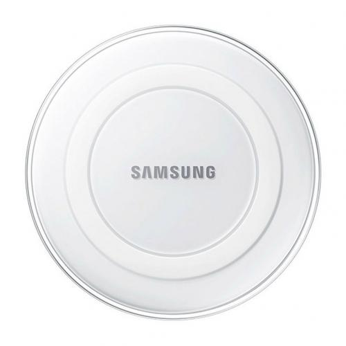 Samsung Wireless Charging Pad with 2A Wall Charger [White Pearl]