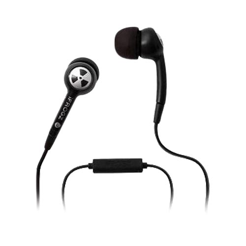 Original PLUGZ IFROGZ Noise Isolation Headset, EPD33-MIC-BLK - Black (3.5mm)