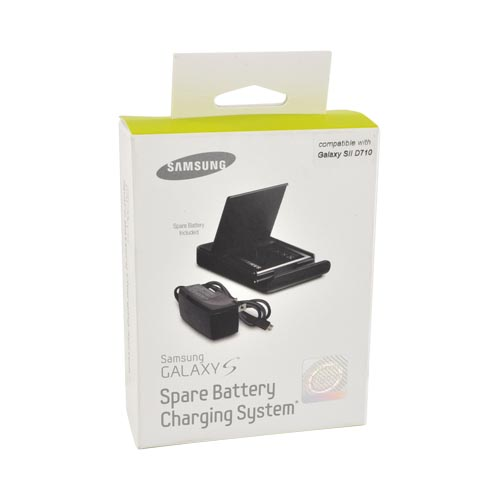 Original Samsung Epic 4G Touch Spare Battery Charging System w/ Spare Battery (1800 mAh) & Micro USB Charger, ET-CGPK009GSTA - Black