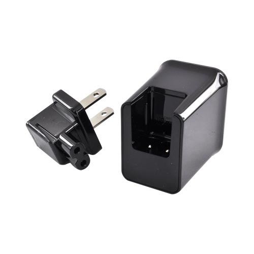 Original Samsung Galaxy Tab 30-pin Travel Charger Adapter w/ Detachable Cable, ETA-P10JBEGSTA - Black