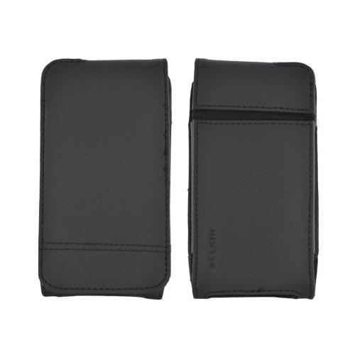 Original Belkin AT&T/ Verizon Apple iPhone 4/ iPhone 4S Verve Folio Leather Pouch Case w/ Velcro Closure, F8Z739 - Black