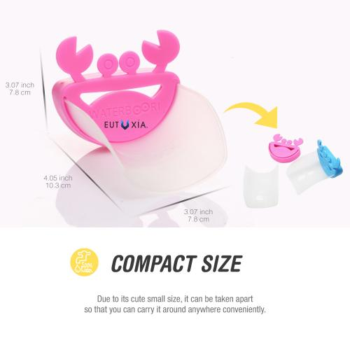 Hot Pink Crab Water Faucet Tap Extender For Kids!
