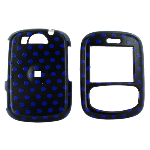 Cricket TXTM8 Hard Case - Blue Polka Dots on Black