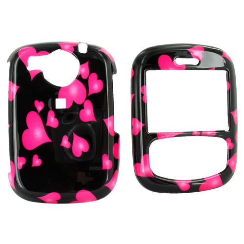 PCD Cricket TXTM8 Hard Case - Floating Pink Hearts on Black