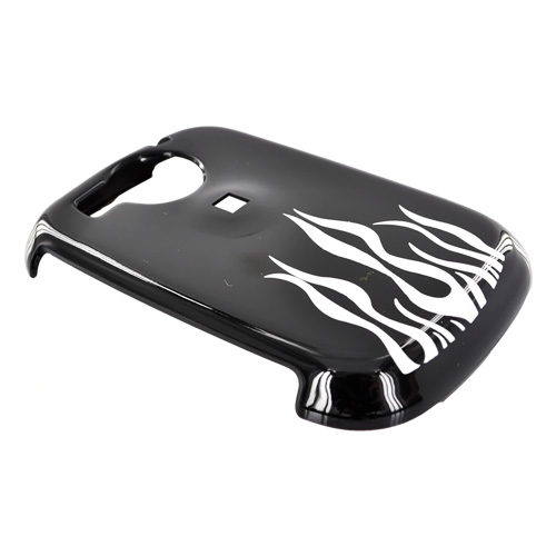 PCD Cricket TXTM8 Hard Case - Silver Flame on Black