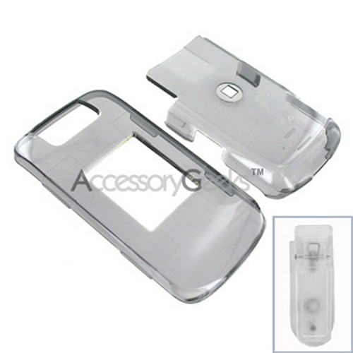 Blackberry Pearl Flip Hard Case - Transparent Smoke