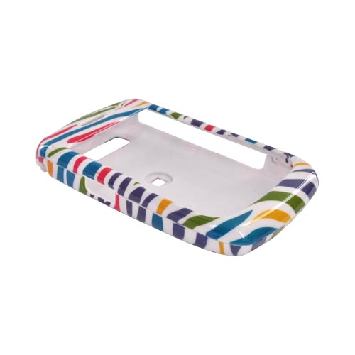 Blackberry Curve 8900 Hard Case - Colorful Zebra on White