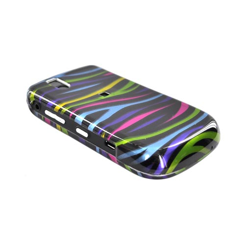 Blackberry Bold 9650 & Tour 9630 Hard Case - Colorful Zebra on White