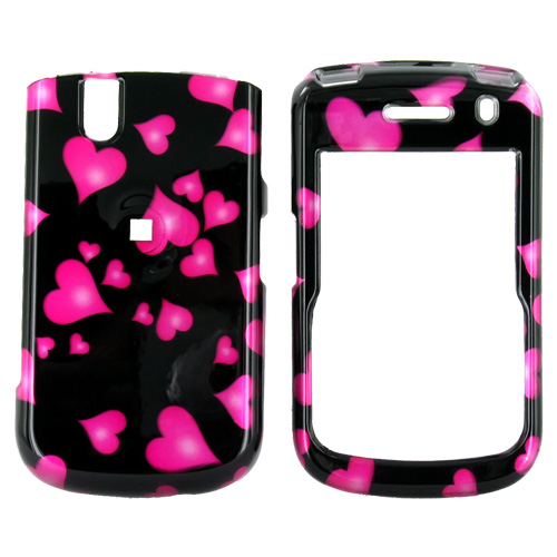 Blackberry Bold 9650 & Tour 9630 Hard Case - Floating Hearts on Black