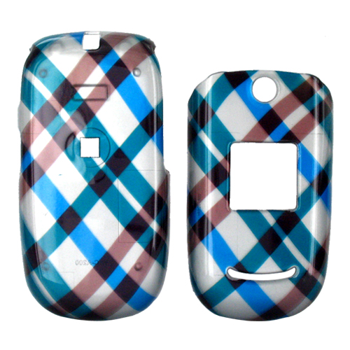Cricket A200 Hard Case - Checkered Diamonds of Blue, Brown, and Grey