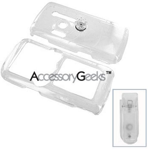 Sony Ericsson W810i Protective Hard Case w/ Clip - Clear