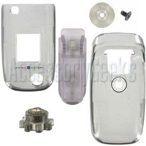 Sony Ericsson Z520 Transparent Smoke Hard Cover Case With Swivel Belt Clip