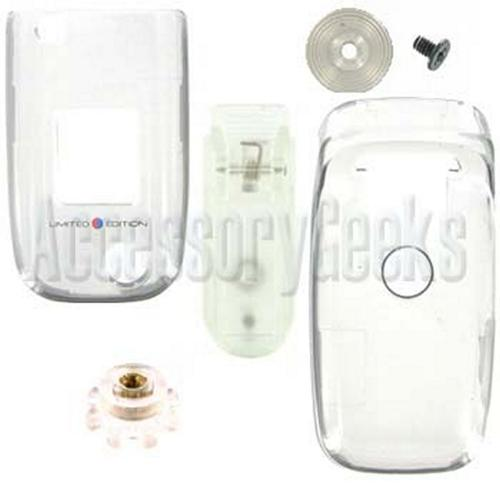 Sony Ericsson Z520 Transparent / Clear Hard Cover Case With Swivel Belt Clip