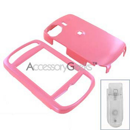 HTC Mogul Protective Hard Case w / Belt Clip - Baby Pink