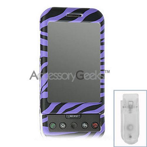 T-Mobile G1 Protective Hard Case - Purple Zebra