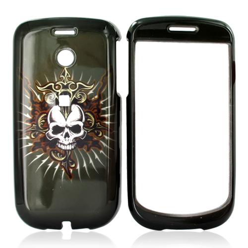 T-Mobile MyTouch 3G Hard Case - Cross Skull on Black