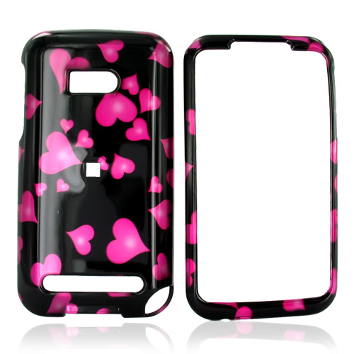 Verizon HTC Imagio Hard Case - Floating Hearts on Black