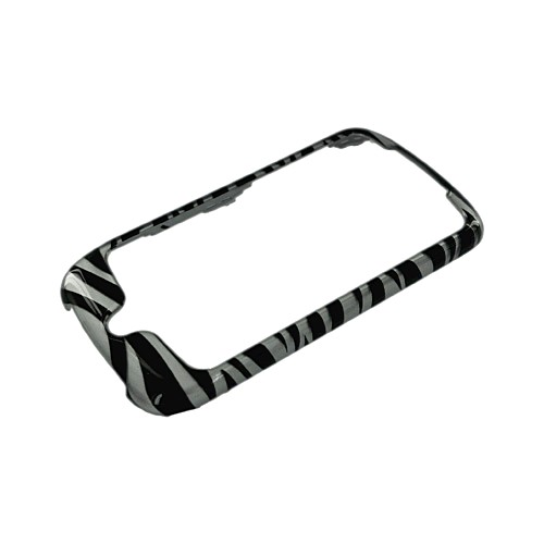 Google Nexus One Hard Case - Silver/Black Zebra