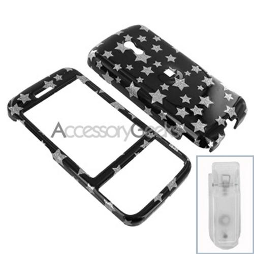 Sprint HTC Touch Pro Hard Case - Silver Star on Black