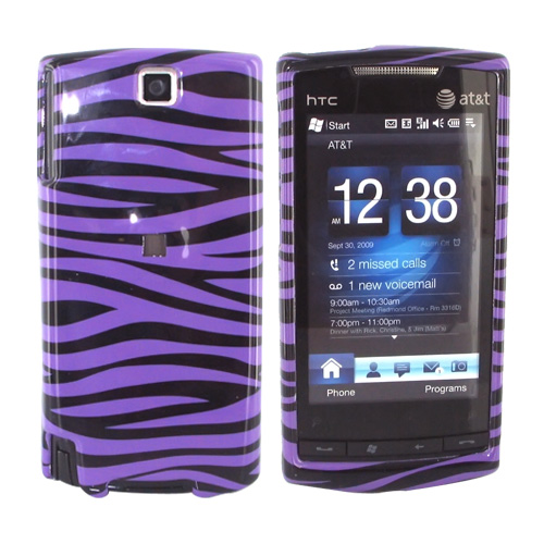 HTC Pure Hard Case - Purple/Black Zebra