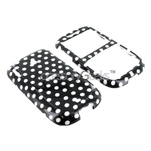 HTC Snap S511 Hard Case - Polka Dot on Black