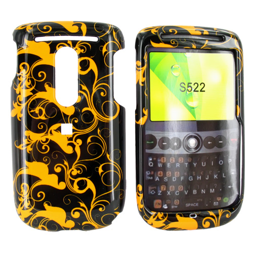 TMobile Dash 3G Hard Case - Brown Swirl Design on Black