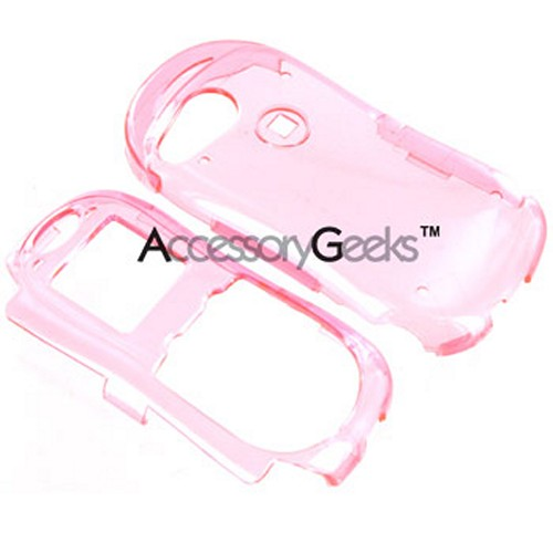 Kyocera K612 Transparent Pink Protective Case with Belt Clip