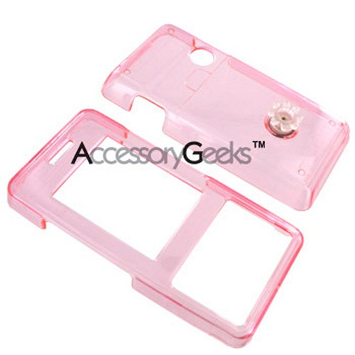 LG Chocolate VX 8500 Hard Case - Transparent Pink