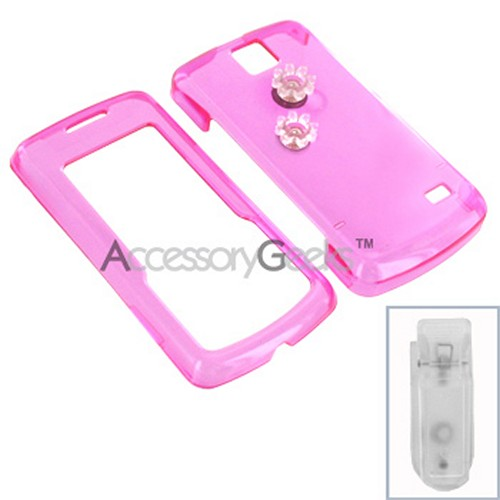 LG Venus Protective Hard Case - Transparent Hot Pink