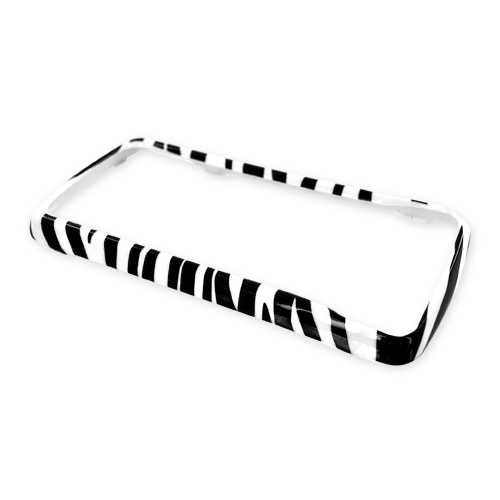 LG Expo GW820 Hard Case - White/Black Zebra