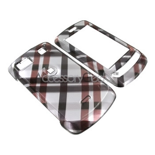 LG Xenon GR500 Hard Case - Checkered Pattern of Black, Brown on Grey