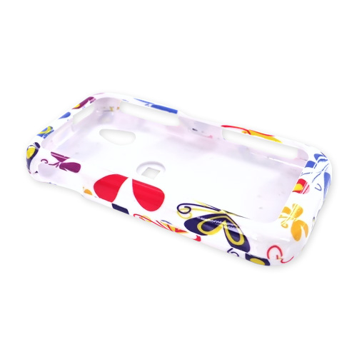 LG Arena GT950 Hard Case - Colorful Butterflies on White