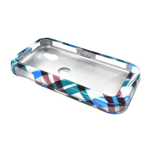 LG Arena GT950 Hard Case - Checkered Design of Blue, Brown, Green