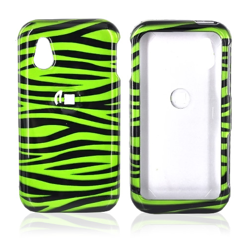 LG Arena GT950 Hard Case - Green/Black Zebra