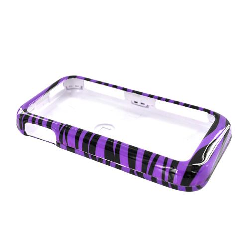 LG Arena GT950 Hard Case - Black/Purple Zebra