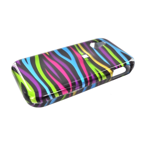 LG Arena GT950 Hard Case - Rainbow Zebra on Black
