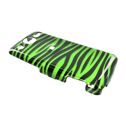 LG Expo GW820 Hard Case - Black Zebra on Green