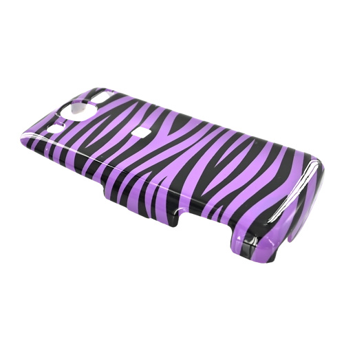 LG Expo GW820 Hard Case - Purple/Black Zebra
