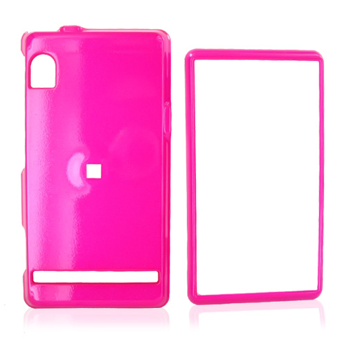 Motorola Droid A855 / Milestone Hard Back Hard Case - Hot Pink (BACK COVER ONLY)