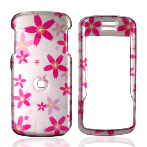 Motorola Debut i856 Hard Case - Pink Flowers on Pink