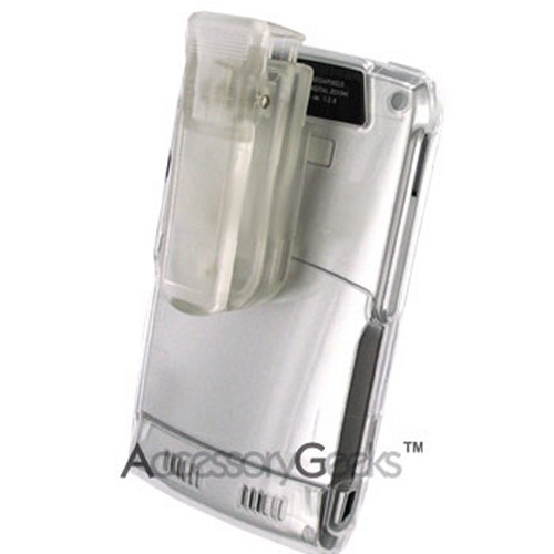 Motorola Q Hard Case w/ Belt Clip - Transparent Clear