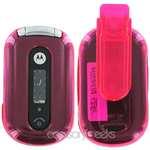 Motorola PEBL U6 Protective Hard Case - Transparent Hot Pink