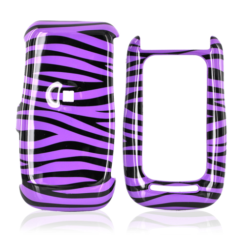 Motorola Quantico W845 Hard Case - Purple/Black Zebra