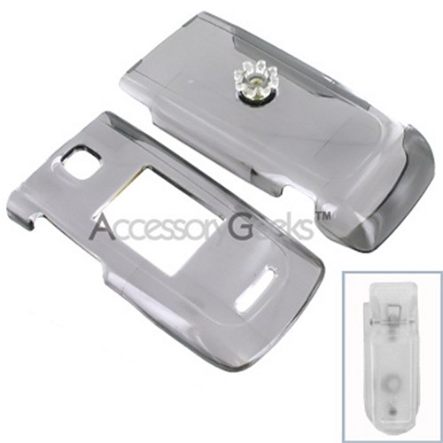 Nokia 6555 Protective Hard Case - Transparent Smoke