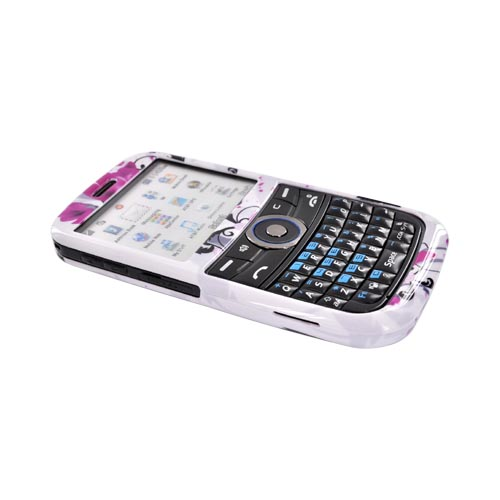 Pantech Link P7040 Hard Case - Pink Flowers on White