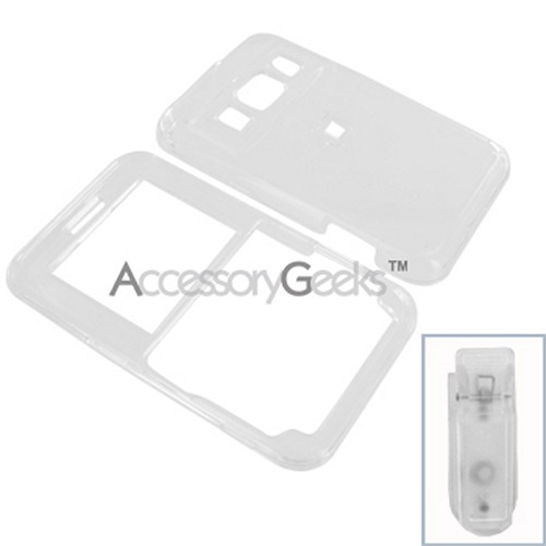 Pantech Slate Hard Case - Transparent Clear