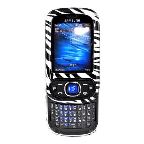 Samsung Strive A687 Hard Case - Black Zebra on Silver
