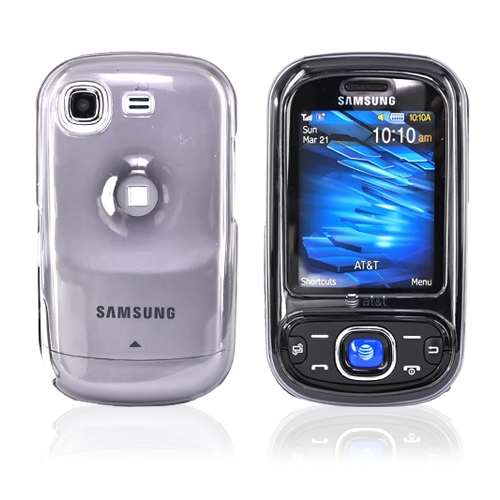 Samsung Burst A697 Plastic Case - Transparent Smoke