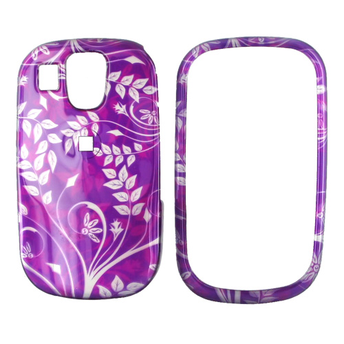 Samsung Flight A797 Hard Case - Floral Design on Purple