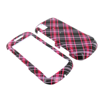 Samsung Instinct S30 Hard Case - Checkered Hot Pink